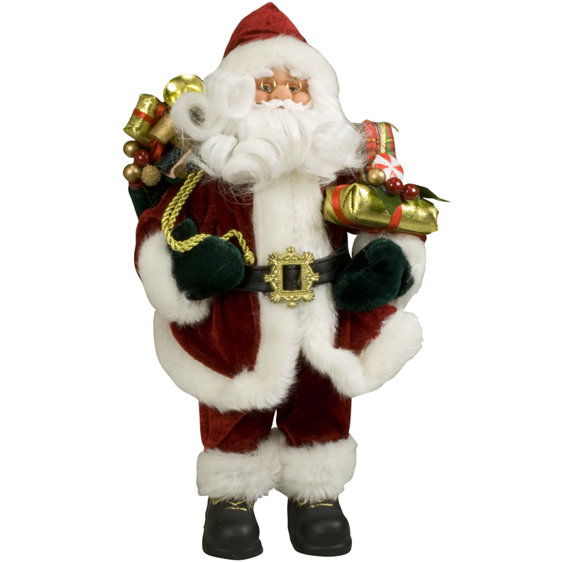 weihnachtsmann 30cm deko nikolaus santa clause figur gro weihnachts deko holz ebay. Black Bedroom Furniture Sets. Home Design Ideas