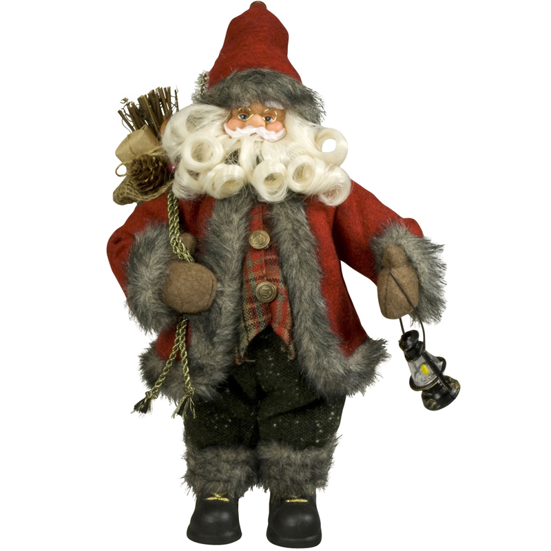 weihnachtsmann 30cm deko nikolaus santa clause figur gro. Black Bedroom Furniture Sets. Home Design Ideas