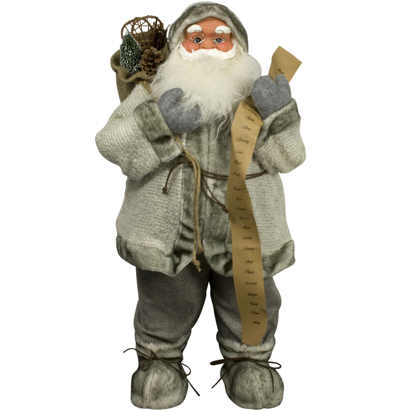 weihnachtsmann 80cm deko nikolaus santa clause figur gro weihnachts deko holz ebay. Black Bedroom Furniture Sets. Home Design Ideas
