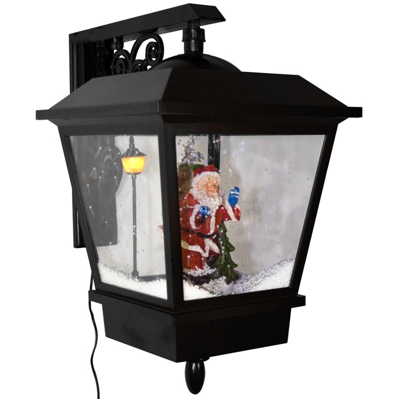 schneiende weihnachts laterne led weihnachtsmann leuchte. Black Bedroom Furniture Sets. Home Design Ideas
