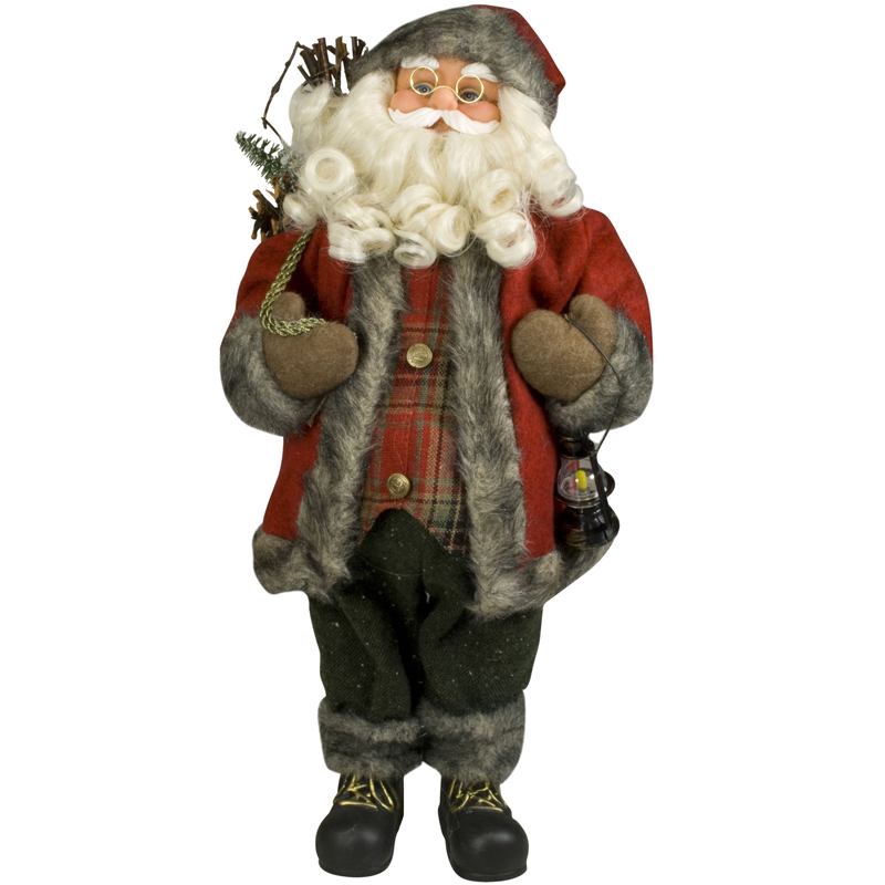 weihnachtsmann 45cm deko nikolaus figur santa clause gro weihnachts deko holz ebay. Black Bedroom Furniture Sets. Home Design Ideas