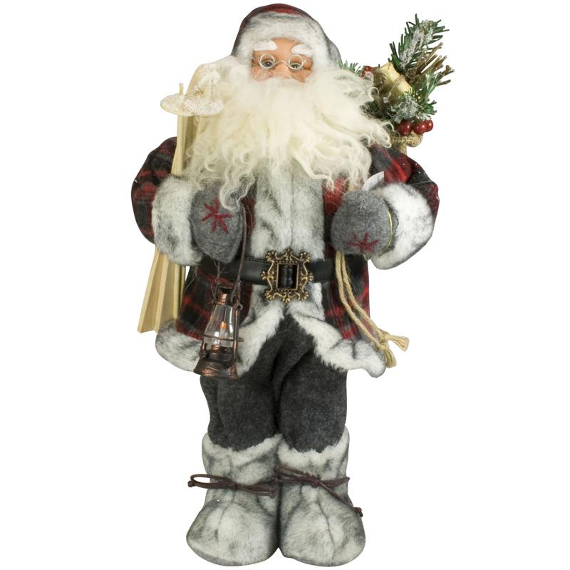 weihnachtsmann 45cm deko nikolaus figur santa clause gro. Black Bedroom Furniture Sets. Home Design Ideas