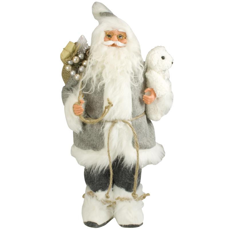 weihnachtsmann 45cm deko nikolaus figur santa clause gro weihnachts deko holz ebay. Black Bedroom Furniture Sets. Home Design Ideas