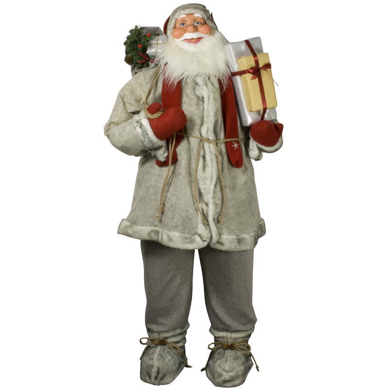 weihnachtsmann 120cm deko nikolaus santa clause weihnachts figur gro deko xxl ebay. Black Bedroom Furniture Sets. Home Design Ideas