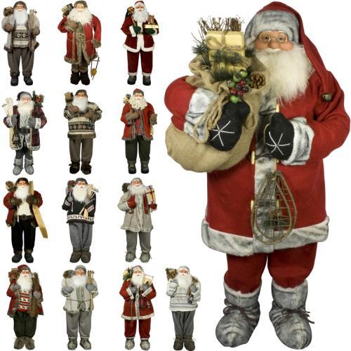 weihnachtsmann 120cm deko nikolaus santa clause weihnachts figur gro deko xxl ebay. Black Bedroom Furniture Sets. Home Design Ideas