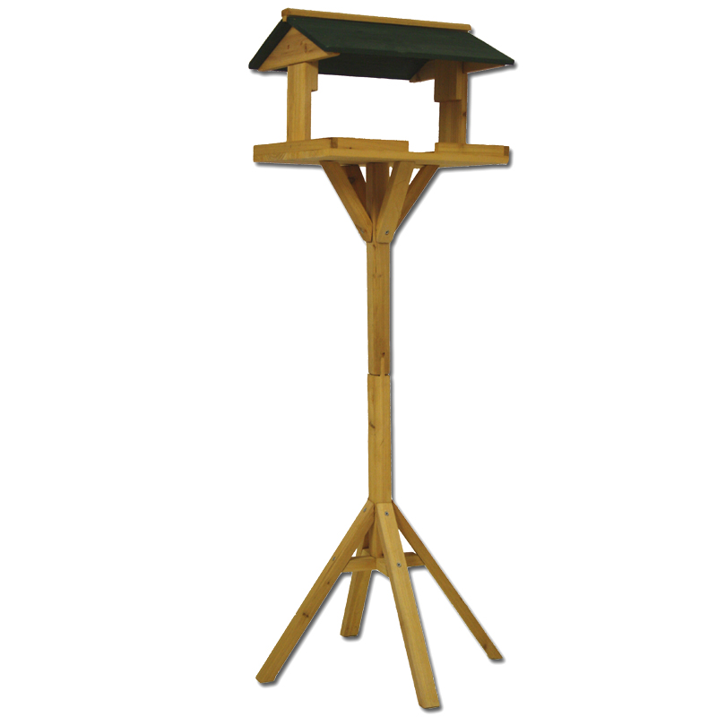 vogelhaus mit st nder holz vogelh uschen vogelfutterhaus futterhaus vogel stand ebay. Black Bedroom Furniture Sets. Home Design Ideas