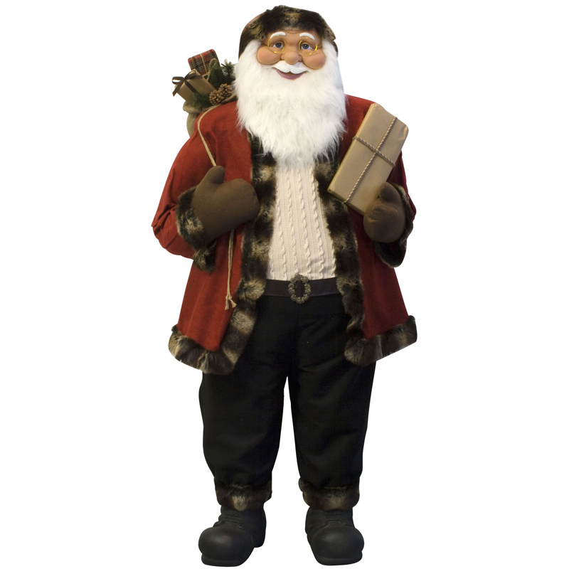 weihnachtsmann 180cm xxl deko nikolaus santa clause weihnachts figur gro deko ebay. Black Bedroom Furniture Sets. Home Design Ideas
