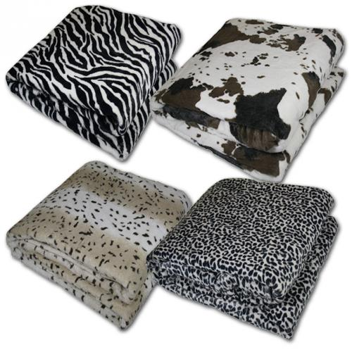 microfibre couverture couverture animal plaid canap par o couverture fourrure plaid ebay. Black Bedroom Furniture Sets. Home Design Ideas