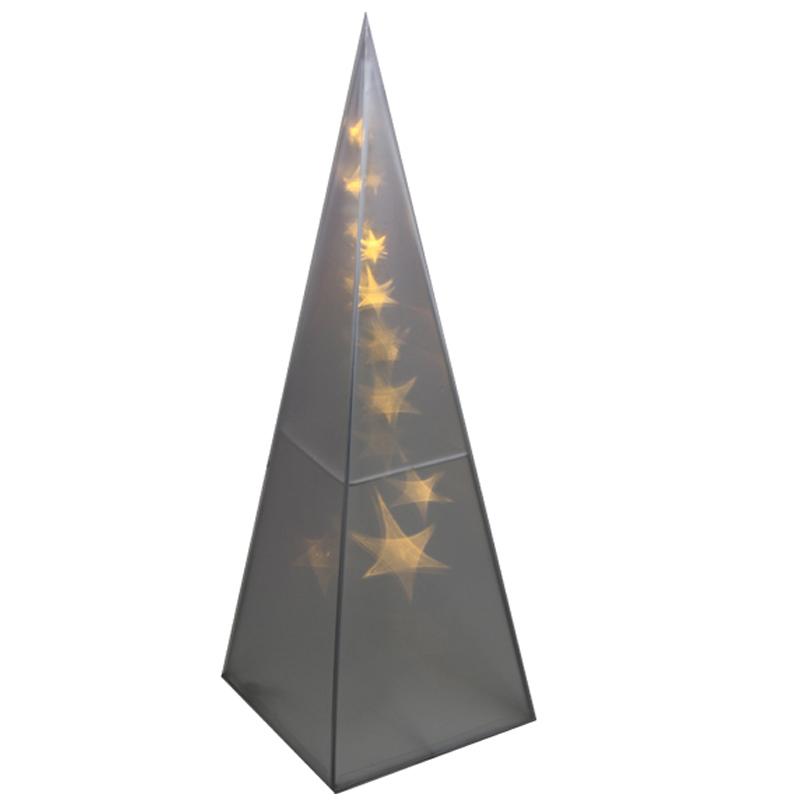 led leucht pyramide weihnachts deko weihnachtspyramide lichterkegel 3d hologram ebay. Black Bedroom Furniture Sets. Home Design Ideas