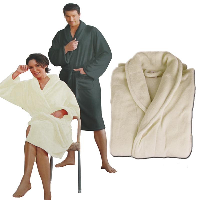 bademantel microfaser unisex saunamantel morgenmantel damen herren ebay. Black Bedroom Furniture Sets. Home Design Ideas