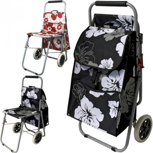 einkaufstrolley mit sitz einkaufsroller einkaufswagen. Black Bedroom Furniture Sets. Home Design Ideas