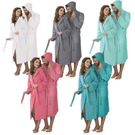 leichter reisebademantel sauna bademantel unixex morgenmantel saunamantel mantel ebay. Black Bedroom Furniture Sets. Home Design Ideas