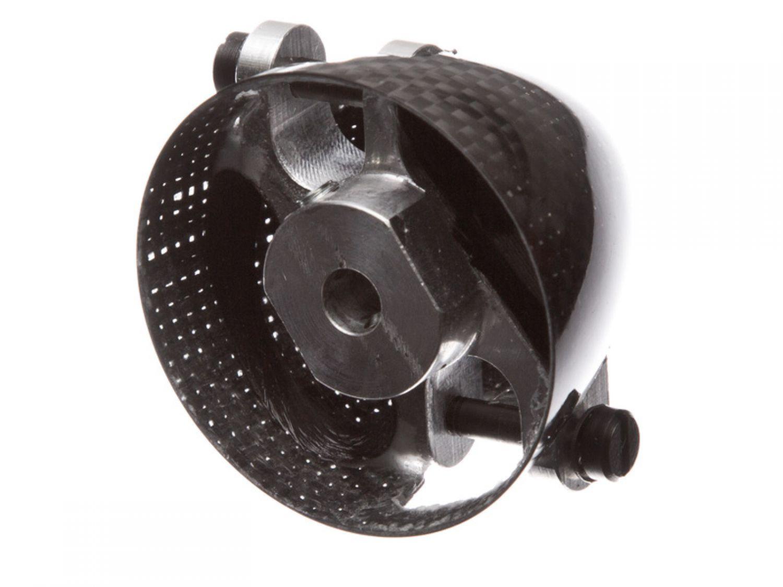 CFK Spezialsp mit Mittelteil mit Kühlung 7° Versatz Sichtcarbon 38//6mm RFM