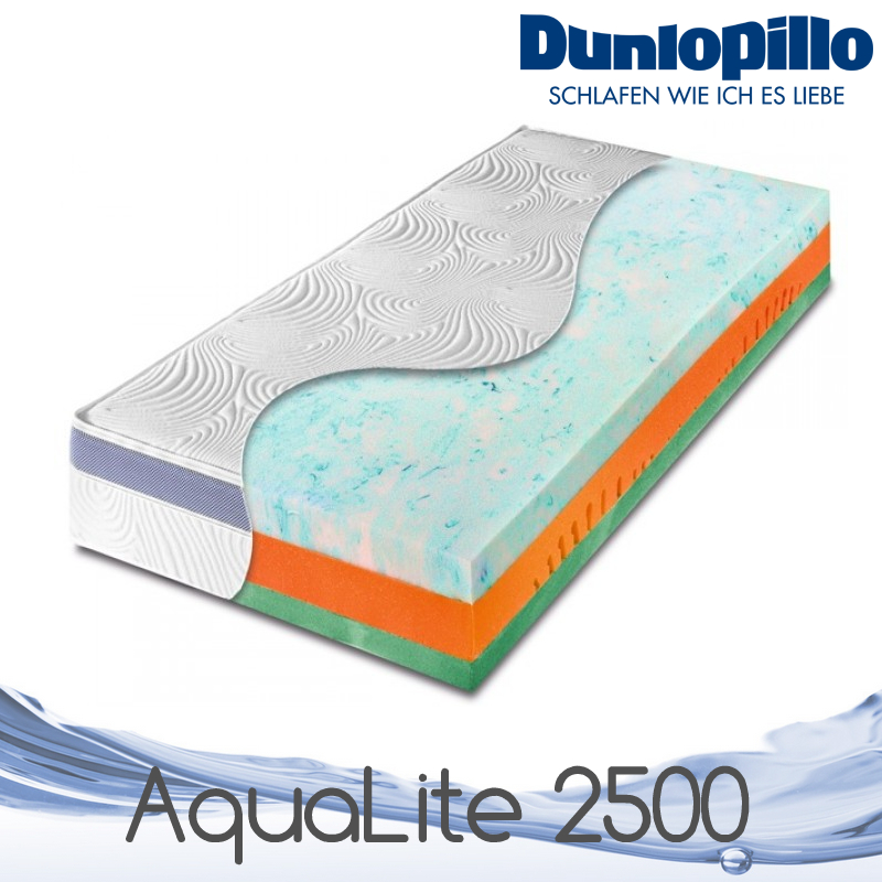 dunlopillo matratze aqualite matratze 2500 neuheit aqua lite gel matratze ebay. Black Bedroom Furniture Sets. Home Design Ideas