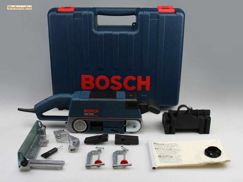 bosch gbs 75 ae set bandschleifer 0601274765 ebay. Black Bedroom Furniture Sets. Home Design Ideas