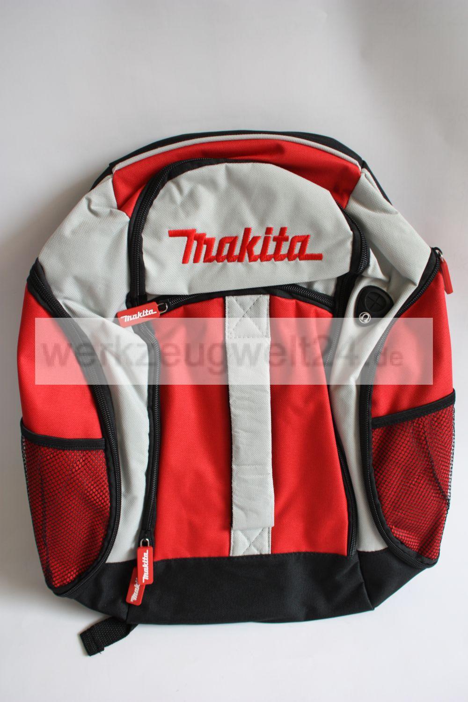 makita rucksack mit verstellbaren tr gern rot weiss schwarz neu ebay. Black Bedroom Furniture Sets. Home Design Ideas