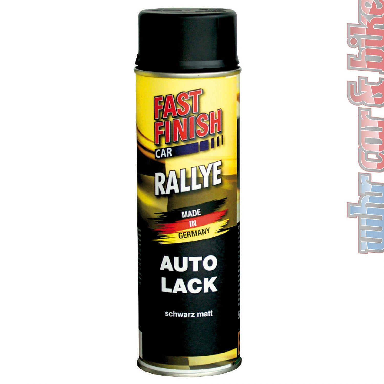 500ml fast finish 292828 rallye lack autolack spraydose schwarz matt ebay. Black Bedroom Furniture Sets. Home Design Ideas