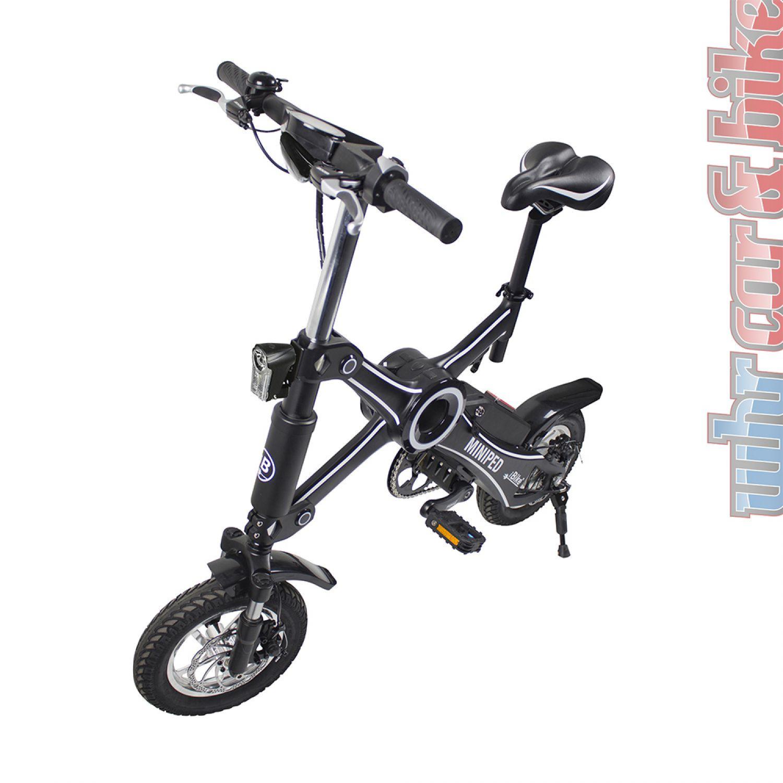 eufab ibike miniped klappbares elektrofahrrad e bike 25km. Black Bedroom Furniture Sets. Home Design Ideas