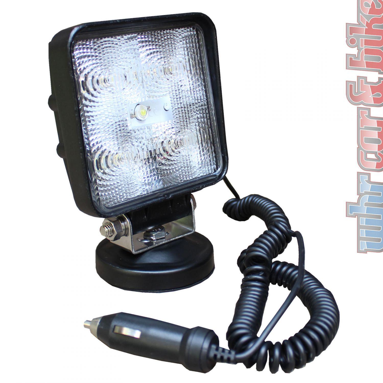 eufab 12v 24v led arbeitsscheinwerfer mit magnetfu 15w 800 lumen scheinwerfer ebay. Black Bedroom Furniture Sets. Home Design Ideas