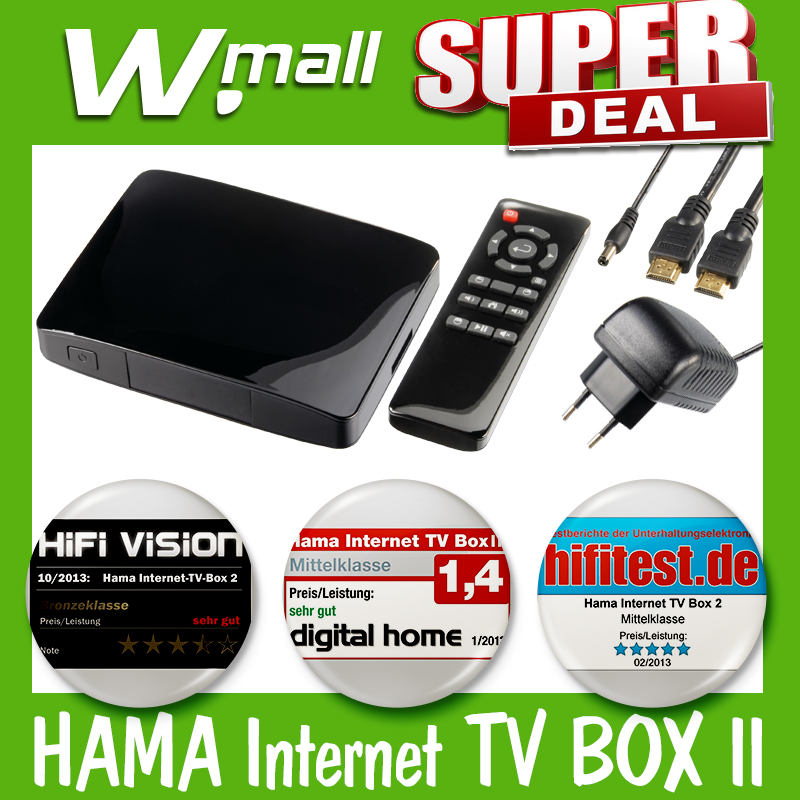 hama internet tv box ii 54805 internet auf dem tv bildschirm ebay. Black Bedroom Furniture Sets. Home Design Ideas