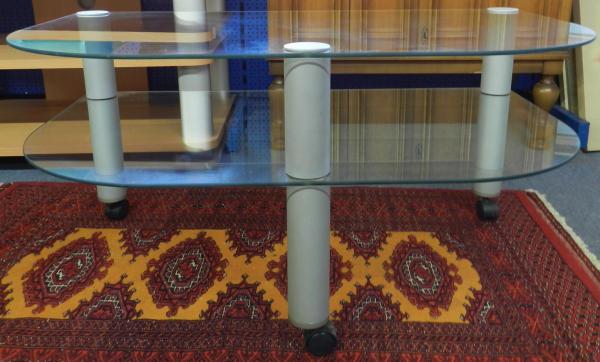 tv hifi schrank rack regal tisch rollen glas ebay. Black Bedroom Furniture Sets. Home Design Ideas