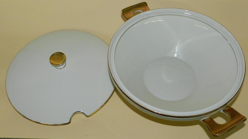 alte terrine bavaria elfenbein porzellan gold ebay. Black Bedroom Furniture Sets. Home Design Ideas