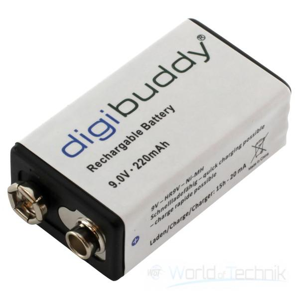digibuddy akku accu batterie battery 9v block ebay. Black Bedroom Furniture Sets. Home Design Ideas