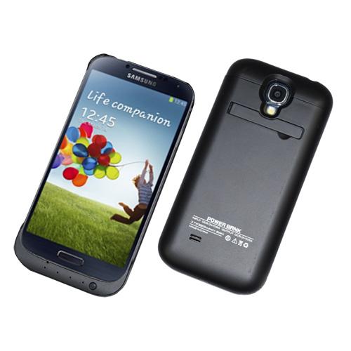 Power-Schale-Bank-Extern-zusatz-Akku-f-Samsung-i9500-Galaxy-S4-3200-mAh-schwarz
