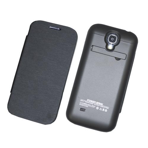 Power-Schale-Bank-Extra-Extern-zusatz-Akku-fuer-Samsung-i9500-Galaxy-S4-3200-mAh